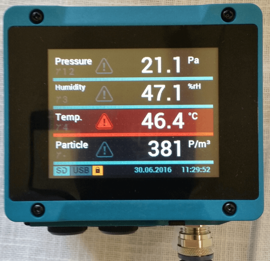 Touch Screen Process Indicator